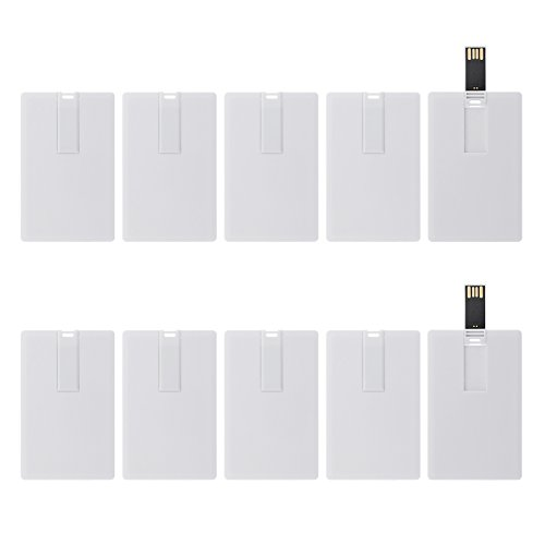 (KEXIN USB Flash Drives Credit Card Bank Card Shape Flash Drive Memory Stick Key Credit 2GB 2G USB Drive - Bulk Flash Drives - 50 Pcs (White Card))