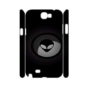 3D extraterrestres el Samsung Galaxy Note 2 en oscuro para chicas, Samsung Galaxy Note 2 para [blanco] globalpowder