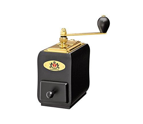 - Zassenhaus Santiago 150 Gold - Espresso/Coffee Mill/Grinder - Adjustable - Beech Wood - Black