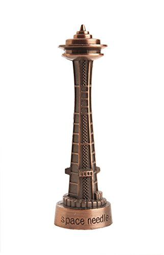 (Seattle Medium Bronze Space Needle | 100% Bronze | Souvenirs | Novelty | Seattle Gifts)