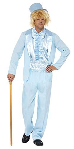 (Smiffys Men's 90s Stupid Tuxedo Costume, Blue,)