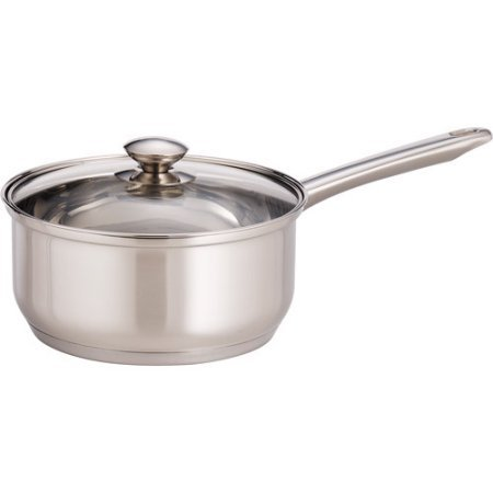 Mainstays 3-Quart Covered Saucepan, Stainless Steel