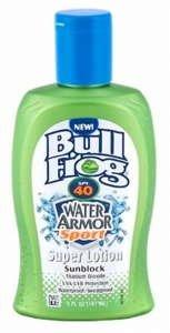 BullFrog WaterArmor Super Sport Lotion écran solaire FPS 40
