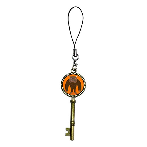 GiftJewelryShop Ancient Bronze Retro Style Halloween Werewolf Cartoon Flower Photo Jewelry Vintage Key Series Strap Hanging Chain for Phone Cell Phone Charm]()