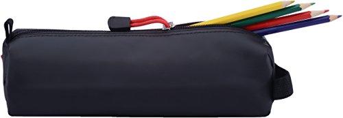 Rough Enough® - Custodia organizer in gomma per matita, colore: nero