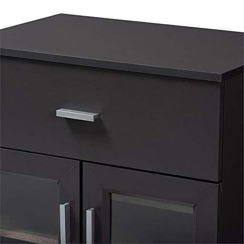 Baxton Studio Jonas Server Cabinet in Dark Grey and Oak Brown by Baxton Studio (Image #6)