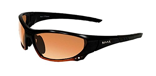 Maxx Sunglasses Maxx 17 Black to Orange Fade Frame with Orange HD Lenses