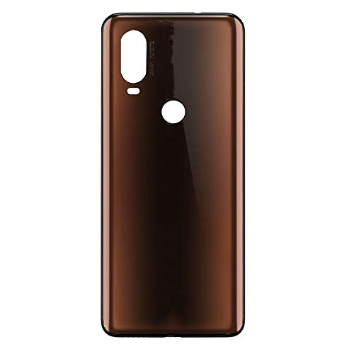 Rear Battery Door Housing Back Cover Replacement for Moto One Vision XT1970-1 XT1970-3 XT1970-2 Mocha -