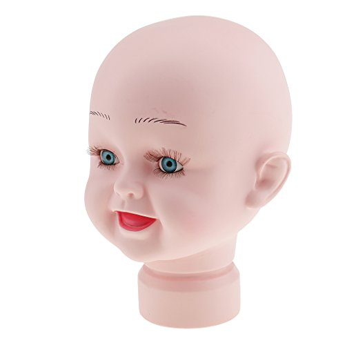 Jili Online Durable Lovely Plastic Children Mannequin Child Kid Baby Manikin Head Hair Wig Hat Stand Display Tool