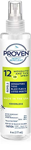 Repellent Insect Picaridin - Proven 12 HR Insect Repellent Spray - Odorless, 6oz; Protects Against Mosquitoes, Ticks and Flies; DEET Free, Non-Toxic; Safe for Children; Made in USA