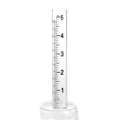 - Evergreen Garden Glass Replacement Rain Gauge Tubes Maximum 5 Inches Measurement Set of 2