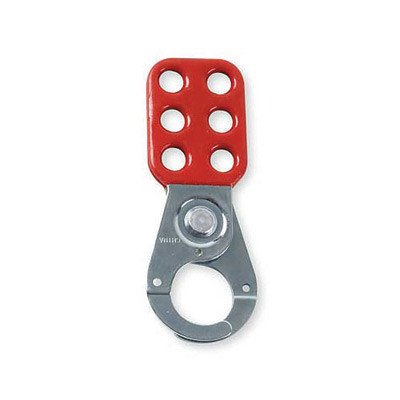 Brady® Red Vinyl Coated High Tensile Steel Lockout Hasp With 1 1/2'' Jaw