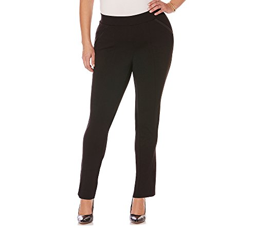 Rafaella Women's Plus Size Ponte Comfort Fit Slim Leg Pan...