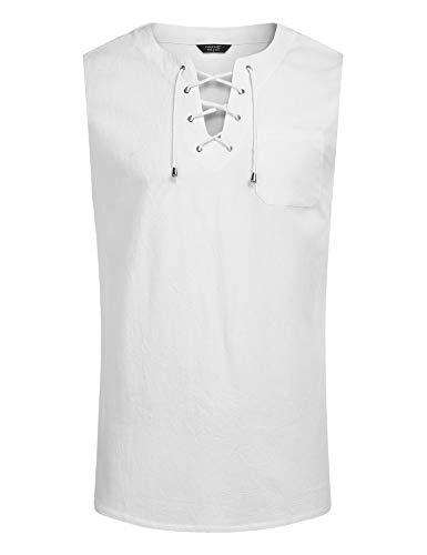 JINIDU Mens Casual T Shirts Cotton Hipster Tee Short Sleeve Yoga Tank Top