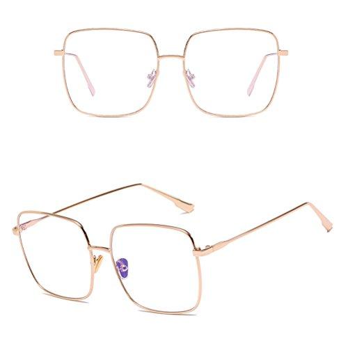 Case Retro Safety Metal de amp; Soleil lunettes pour Sunglasses Zhhlaixing Protective Classic Homme UV400 with Gold et Glasses Femme 5nTxxSqgOw