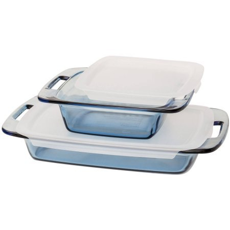 Pyrex Atlántico azul conjunto de utensilios de cocina, 4 piezas ...