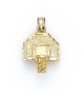 14 Carats Pendentif JewelryWeb de basket