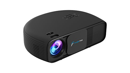 Modern Video Projector Fugetek, FGCL-760, LCD LED 720P Home Office Theater Cinema, Dual HDMI/USB Inputs, VGA, Black,Works With Fire Tv & Roku, US Support