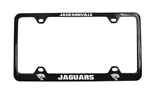 NFL Jacksonville Jaguars Laser License Plate Frame, One Size, White (Jacksonville Plate Jaguars)