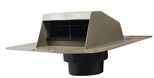 Duraflo 6013WW Roof Dryer Vent Flap with ATT Collar, Weat...