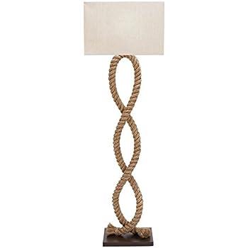 Benzara Designers Lamps/Wood Metal Rope Pier Floor Lamp, 63-Inch