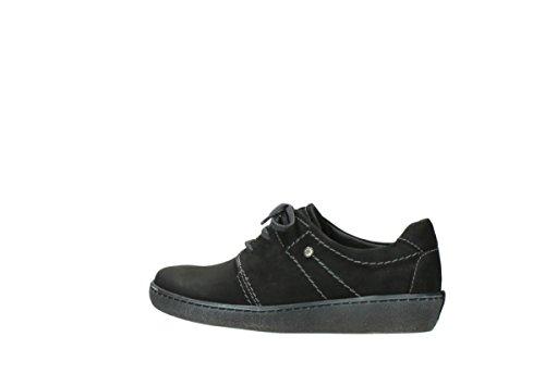 Oiled Nubuck à Black 50000 Wolky Artemis Chaussures Comfort lacets RqBqZw0