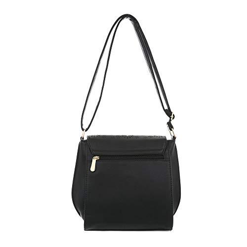Ital Bolso de Negro al para mujer hombro Sintético Design ZZwrq56
