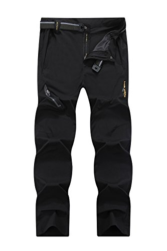 Mr.Stream Men's Sports Fitness Breathable Quick Drying Outdoor Running Stretch Pants 3X-Large Black Breathable Nylon Pant