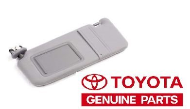 (Genuine Toyota Camry 2007-2011 New Gray Drivers Side Sun Visor With No Sunroof)