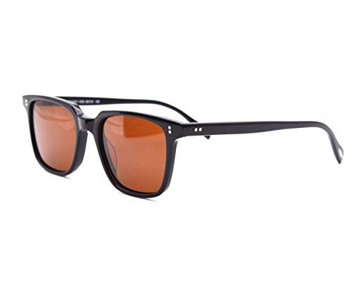 EyeGlow Vintage Square Sunglasses Men and Women Polarized Lens S6801 (Black, - Sunglasses Wholesale Italian