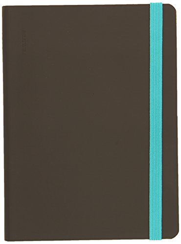 "(nuuna Design Smooth Bonded Leather Notebook – ""Heaven S"", Soft Cover, Dot Grid, Elastic, 176 Pages Premium Paper, DIN A6, Dark Grey)"