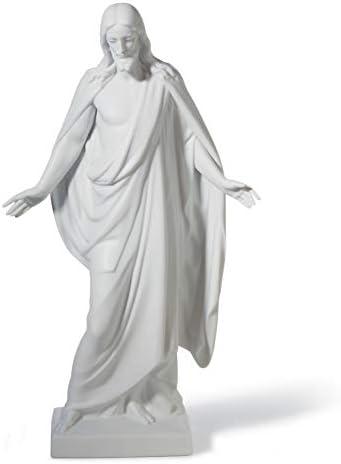 LLADR Christ Figurine. Left. Porcelain Christ Figure.