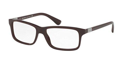 Prada PR06SV Eyeglass Frames USF1O1-56 - Brown PR06SV-USF1O1-56