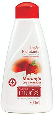 Hidratante Corporal Amor Morango com Champagne 500ml, Muriel