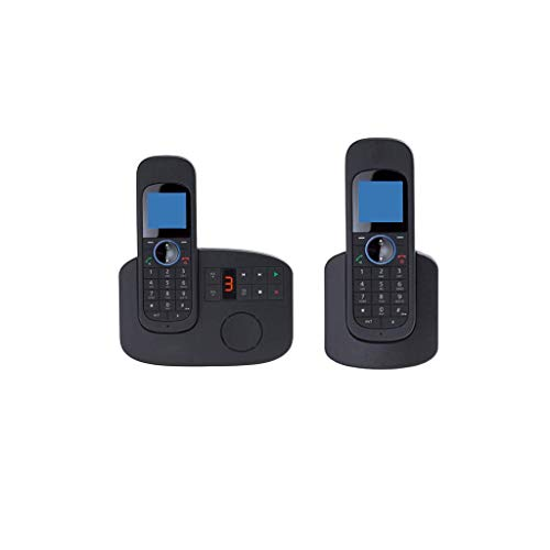 20 Minute Digital Answering Machine - GONGFF Telephone- Office Landline Home Wireless Fixed Telephone Extension, Four Specifications Black Mobile Phone Welcome (Size : 1+1)