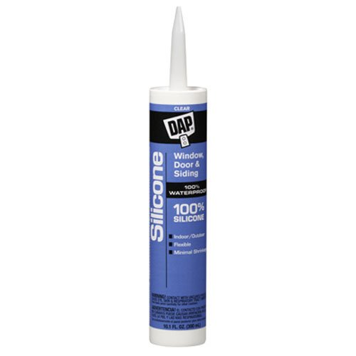 Sealant Rubber Dap Silicone (Dap 08641 Clear Silicone Sealant 9.8-Ounce)