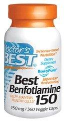 Doctors Best Best Benfotiamine, 360 Vcaps 150 mg
