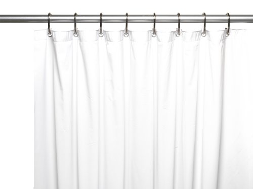 Carnation Home Fashions 8-Gauge Vinyl Shower Curtain Liner, X-Long 72