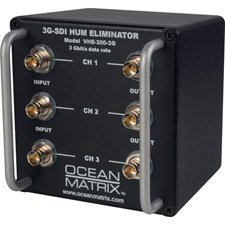 Ocean Matrix 3G-HD-SDI and SDI 3-Channel Video Hum Eliminator-by-Ocean Matrix by Ocean Matrix