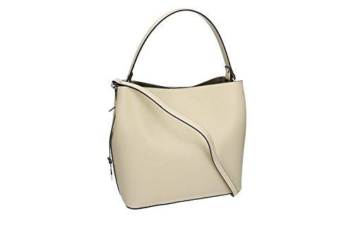 Tasche damen von Hand PIERRE CARDIN beige leder Made in Italy VN1086 37mNW5ekx