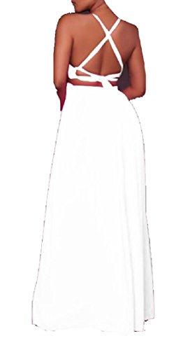 Jaycargogo Des Femmes De Haut Robe Culture Bracelet Spaghetti Mode Robe Club Patchwork De Maille Jaune