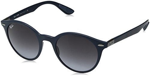 - Ray-Ban RB4296 Round Sunglasses, Matte Blue/Grey Gradient, 50 mm