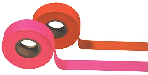 Safety Flag Surveyor's Plastic Flagging Tape, Pink (24 Pack), 150 feet by Safety Flag Co. (Image #1)