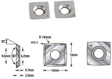 15x15x2.5mm-4R0.5 10pcs 15mm Square Carbide Cutter Insert for wood