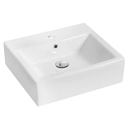 "high-quality Jade Bath JB-14935 20"" W x 18"" D Rectangle Vessel Set with Single Hole CUPC Faucet, White"