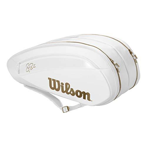 Wilson Federer DNA 12 Racquet Bag (White/Gold)