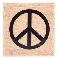 Single Peace Sign Rubber Stamp