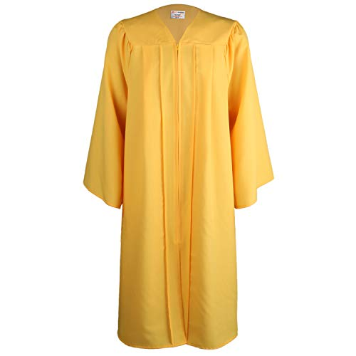 OSBO GradSeason Unisex Matte Robes for Graduation Gown, Choir Robes, Pulpit Robe and Pastor Gold