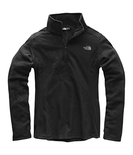 The North Face Women's Glacier 1/4 Zip Fleece Top TNF Black/Mid Grey Small
