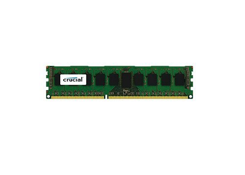 Crucial 8GB Single DDR3 1600 MT/s (PC3-12800) CL11 Unbuffered ECC UDIMM 240-Pin Server Memory CT102472BA160B